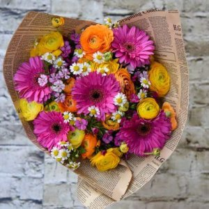 זר פרחים לואיזה