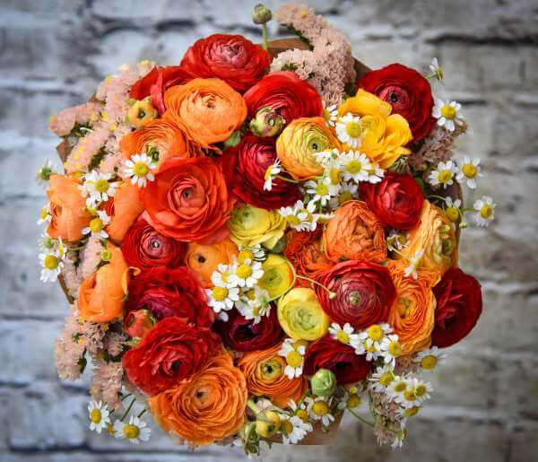זר פרחים מזרחי