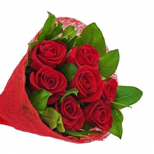 זר ורדים אדום