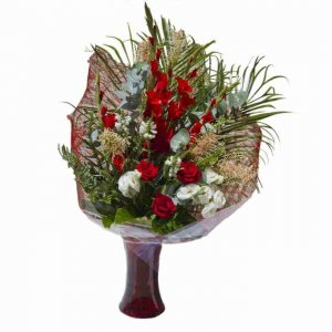 זר פרחים מדורג בעיצוב חזיתי