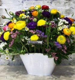 סידור פרחים מבולבל