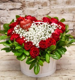 סלסלת פרחים - סלסלה חלומית