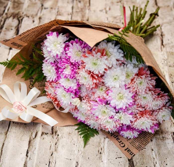 זר פרחים חרצית
