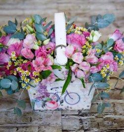 סידור פרחים בתיק
