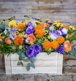 סידור פרחים צבעוני