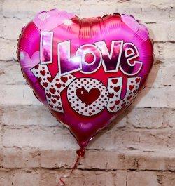 בלון הליום בצורת לב